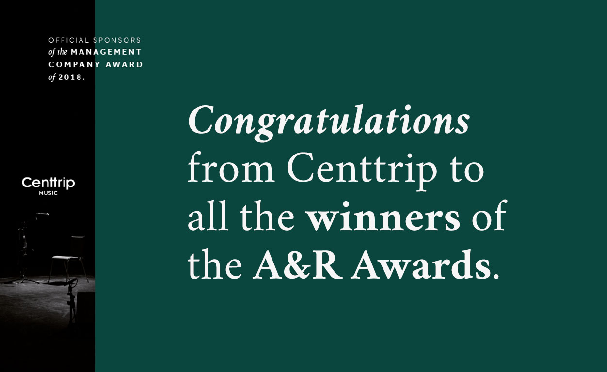 Centtrip proud to support MBW's A&R awards 2018